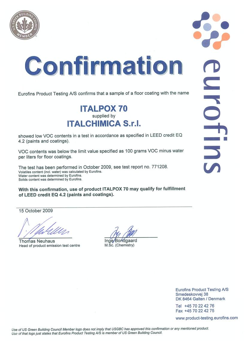 Italpox 70 Italchimica